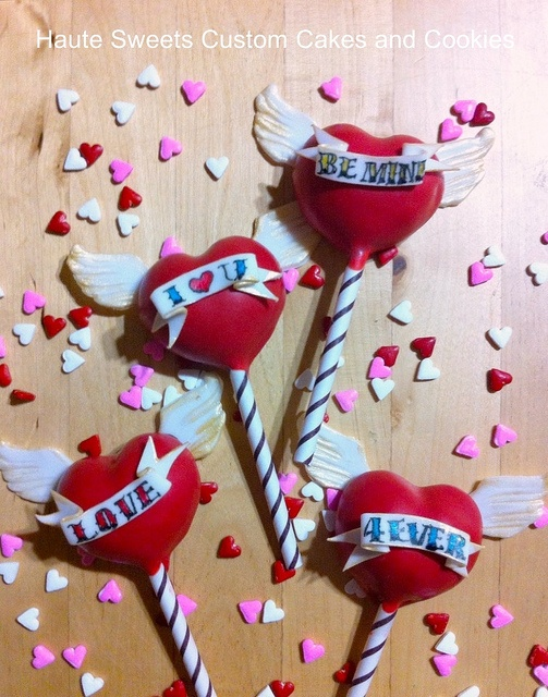 Winged heart tattoo cake pops by bittle, via Flickr