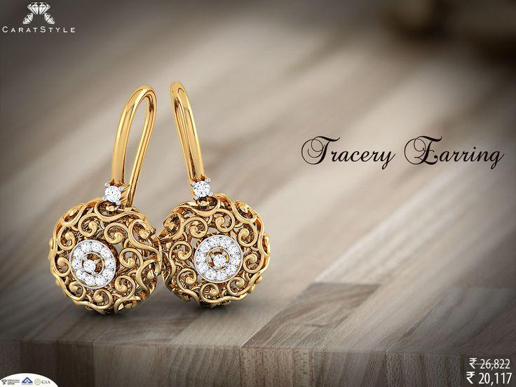 Tracery drop earring