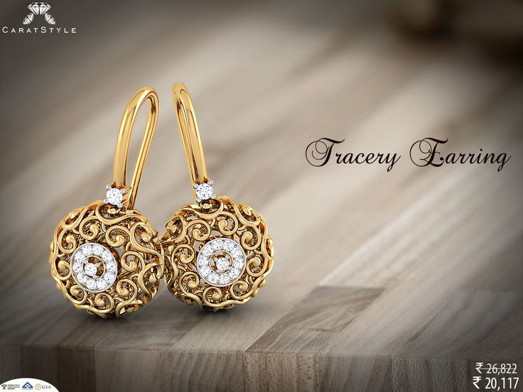 Get stylish everyday! Shop fabulous tracery earrings with 25% discount.!! #diamond #earring #tracery #diamondearring #goldearring #officewearearring #traditionalearring #causalearring #earringforsale