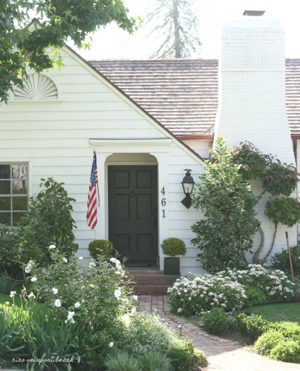 """Isn't this little house darling?  I and to stop and snap a few photos of the pretty façade of this little vintage cottage.  It's located in the popular """"tree streets"""" neighborhood in North Laguna Beach, and guess what?! It just came on the market…"""