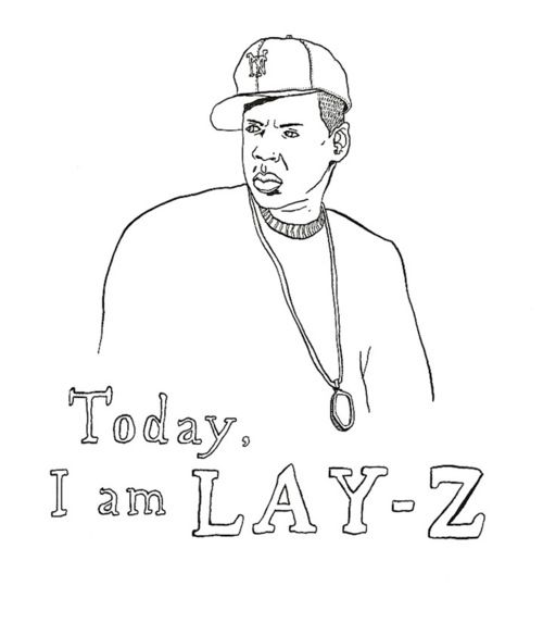 Cartoon of Jay-Z that says,