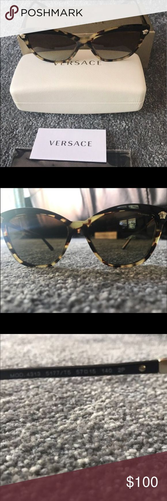 Versace Glasses New never worn no scratches dings perfect condition Versace polarized glasses please view all picturesand yes authentic Versace price drop 7/7/17 Versace Accessories Sunglasses