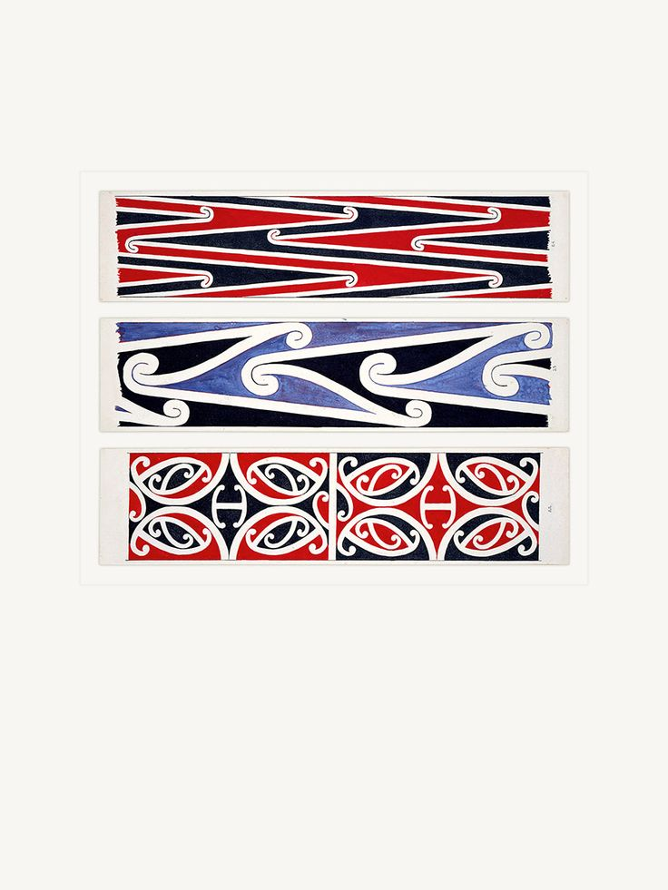 Maori Rafter Designs (Kowhaiwhai) Nos. 22-23-24 by Herbert Williams (1860-1937) - www.imagevault.co.nz
