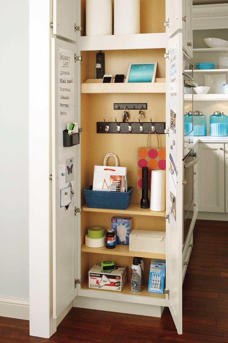 Schrock Cabinets Utility Organizer Drop Zone Cabinet Kitchen Cabinet Storage Small Kitchen Storage Diy Kitchen Storage
