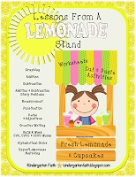 """Lessons From a Lemonade Stand. Math and ELA worksheets, center ideas, and """"yummy"""" activities."""