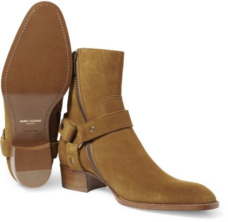 Saint Laurent Suede Boots in Brown for Men, The wyatt boot
