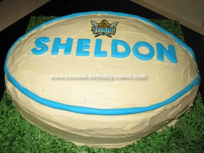 how to make a rugby league ball cake