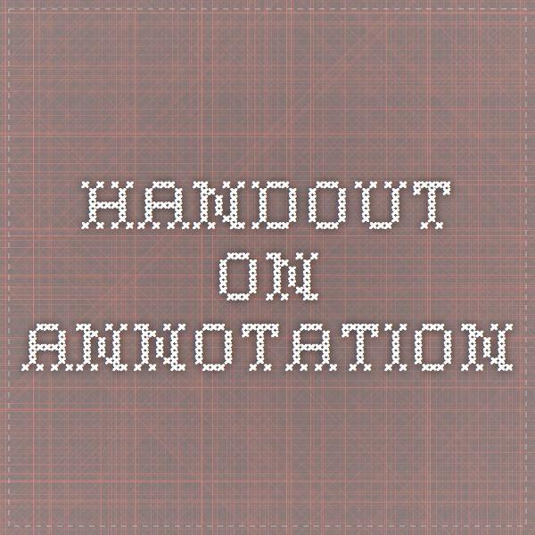 annotation essay