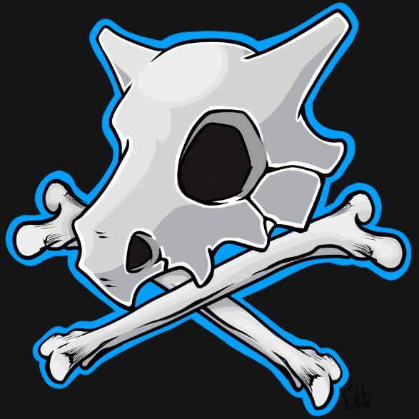 Cubone Skull Cubone skull and bone by