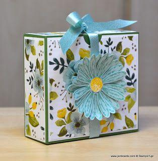 JanB Handmade Cards Atelier: Daisy Flip Top Gift Box Video