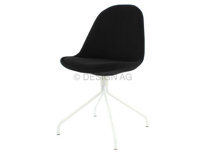 Krzesło Donna Ego czarne nogi metalowe białe Tenzo