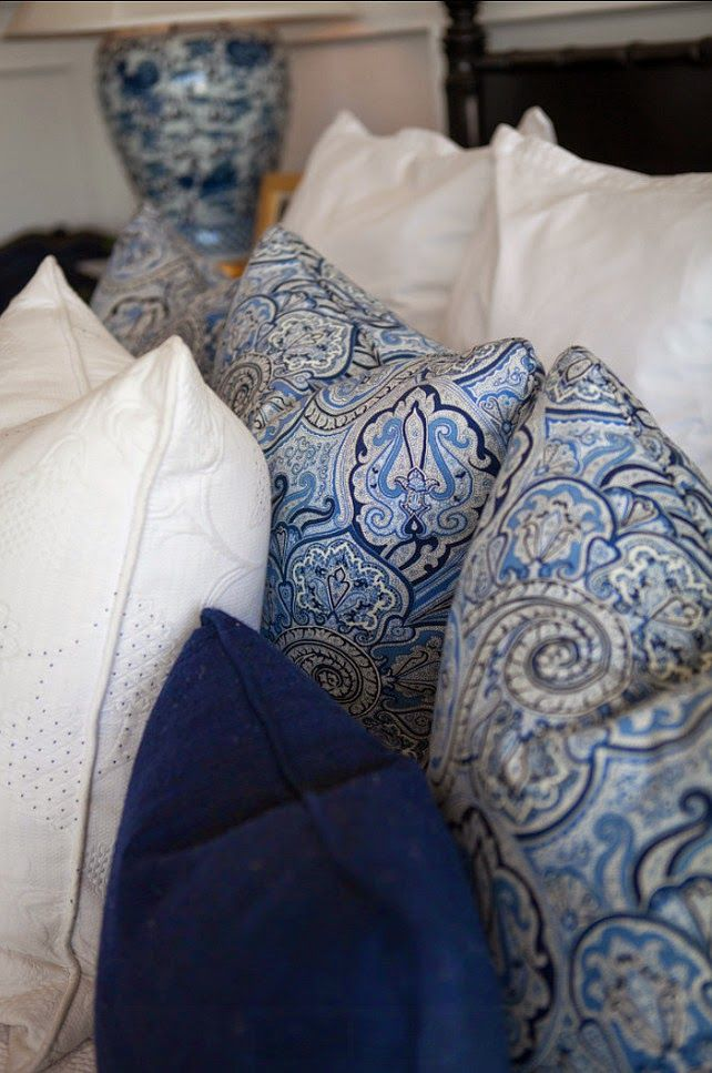 blue paisley with white