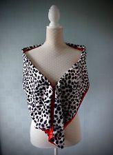 Cruella de Ville Dalmation fancy dress costume stole wrap in faux fur and velvet