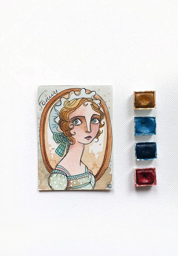 Jane Austen Mansfield Park  Fanny Price by MrsPeggottyArts on Etsy