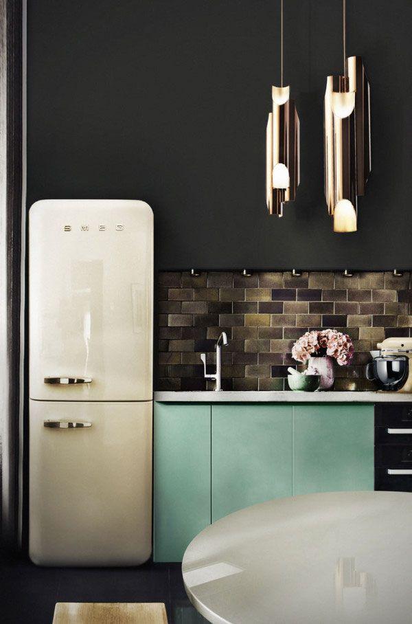 une touche de vert d 39 eau sur les meubles de cuisine d co. Black Bedroom Furniture Sets. Home Design Ideas