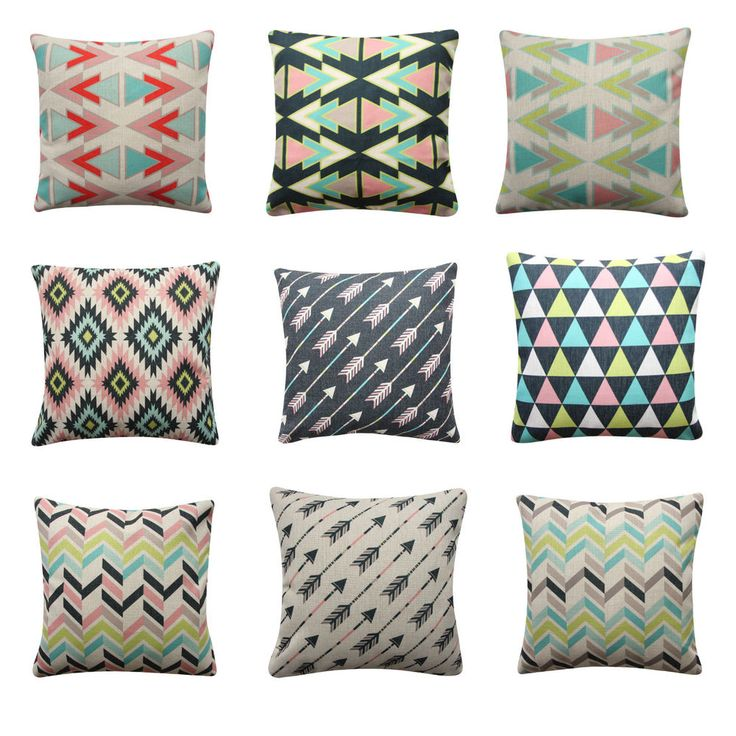 Tribal Arrows Cushion Cover Black Pink Triangles Geometric Pillow Cover Kids Roo