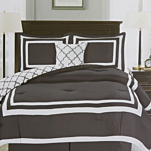 Grey Trend Home Bedding 5 Piece Shelton Hotel Set Queen