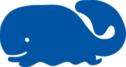 whale icon by johnny_automatic - a cartoon silhouette of a whale from a U.S. patent drawing