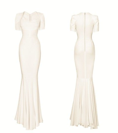 Roland Mouret stretch french jersey wedding dress
