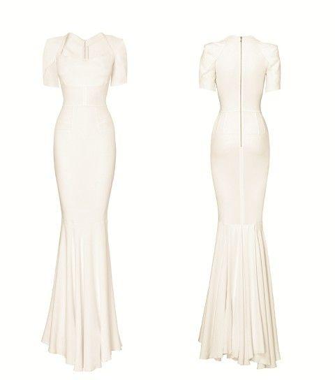 Roland Mouret stretch french jersey wedding dress