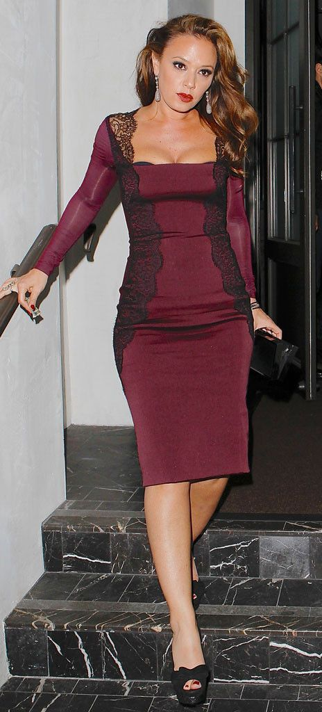 Capsule wardrobe basics black dress - Leah Remini Shows Off Slim Figure In Sexy Lace Dress See