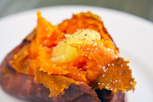 Baked Sweet Potatoes: Tried 10/14/13- really tasty! Oven 400, pierced the potatoes with a fork all over, coated potatoes in coconut oil, baked about 40-45 minutes. Easy and delicious!
