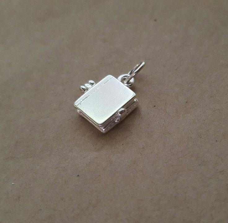 Locket Charm - TEENY TINY LITTLE BOOK - Sterling Silver or 9ct Gold