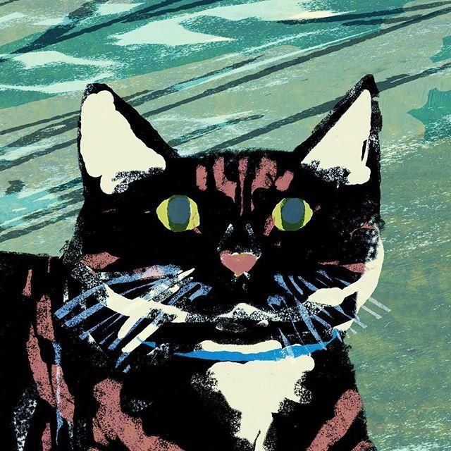 #illustration #painting #tatsurokiuchi #art #drawing #life #lifestyle #happy #japan #people #木内達朗 #イラスト #イラストレーション #cat #猫