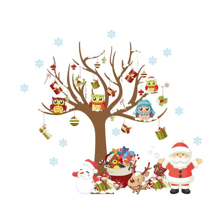 Christmas Santa Tree Wall Stickers //Price: $14.99 & FREE Shipping //     #stickers