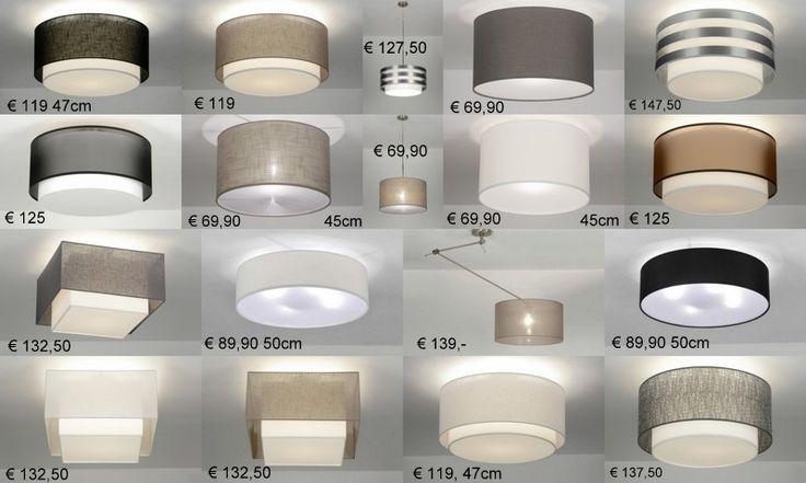stoffen lampenkappen . Lampen plafondlampen voor woonkamer slaapkamer ...