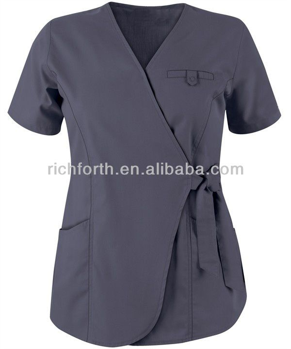 Fashion medical uniform nurse scrub top and spa uniforms $3.5~$10