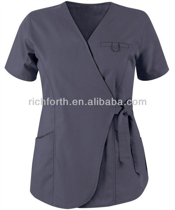 Fashion medical uniform nurse scrub top and spa uniforms $3.5~$10