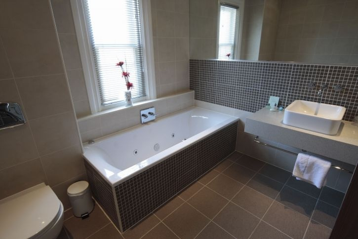 Executive Bathroom Commercial Remodeling Mosaic Tile Designs
