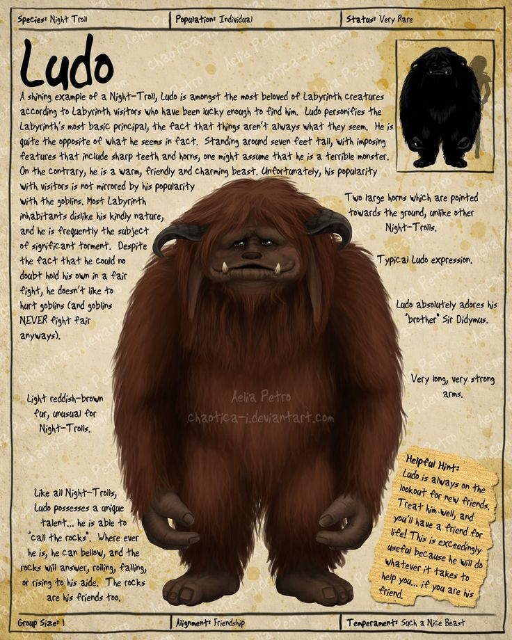 Labyrinth Guide - Ludo  by =Chaotica-I  Fan Art / Digital Art / Painting & Airbrushing / Movies & TV©2011-2012 =Chaotica-I