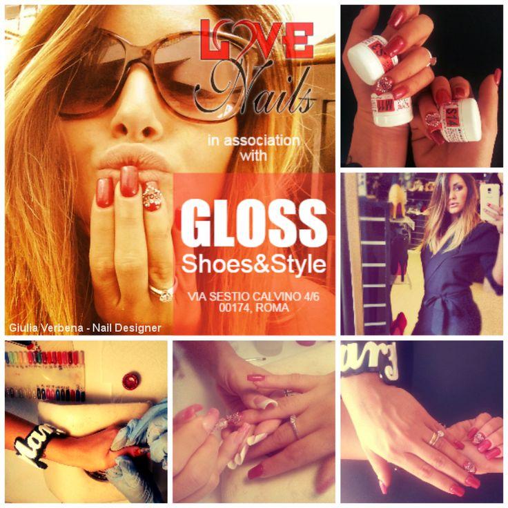 LOVE #Nails presenta la nuova #fashion association con #GLOSS #Shoes & #Style! Via Sestio Calvino 4/6, 00174, Roma www.facebook.com/GLOSSCALZATUREROMA (Giulia Verbena - #NailDesigner)  Info e prenotazioni: 340 727 4164 info@rdcosmetic.com Via Tuscolana 695, ROMA  www.rdcosmetic.com #jewerly #beauty #moda #bijoux #outfit