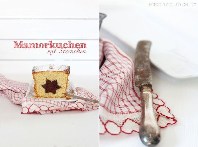 Wie bekommt man z.B. einen Stern in einen Marmorkuchen