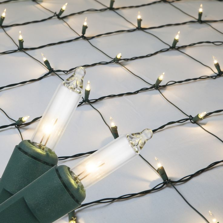4' x 8' Net Lights - 200 Clear Lamps - Green Wire