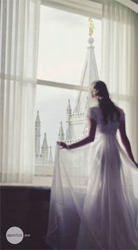 "I wonder if this bride would mind being used for ""Stand Ye in Holy Places"" ... it would be such a good visual for the YW"