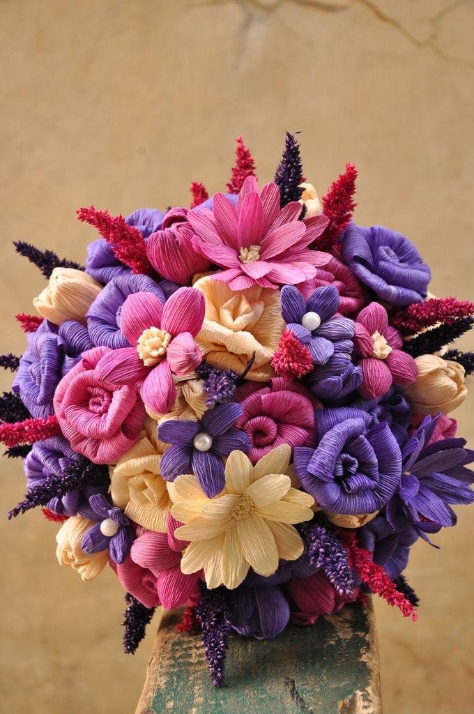 Corn Husk flowers for sale