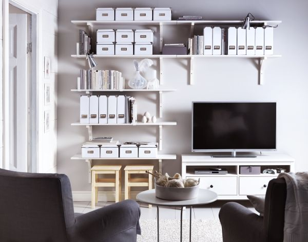 No matter how big your wall space or your TV size, there is a media storage configuration from IKEA that fits.