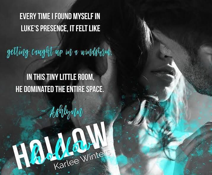 Hollow  by Author Karlee Winters  http://amzn.to/2imVmgt  Things arent always what they seem  To outsiders Ashlynn Summers has it all: shes the star of her own TV cooking show respected by her community and a devoted wife. Until she discovers something that shakes her rock-solid world. Now all she wants is to focus on getting her life back on track. Volunteering at a homeless shelter renews her sense of purpose but when she meets the insolent Luke Brault Ashlynn cant help but think theres…