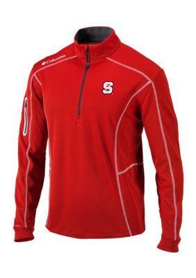 Outdoor Custom Sportswear Men's Nc State Shotgun Quarter Zip Pullover - Red - 2Xl