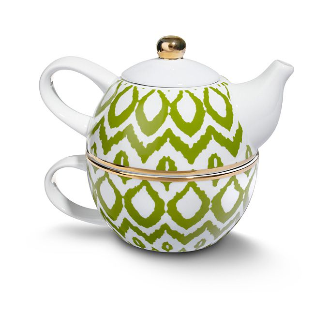 Brides.com: Bridal Party Gifts: Preppy Wedding. Ikat teapot, $38, C. Wonder  Browse more wedding favors and gift ideas.
