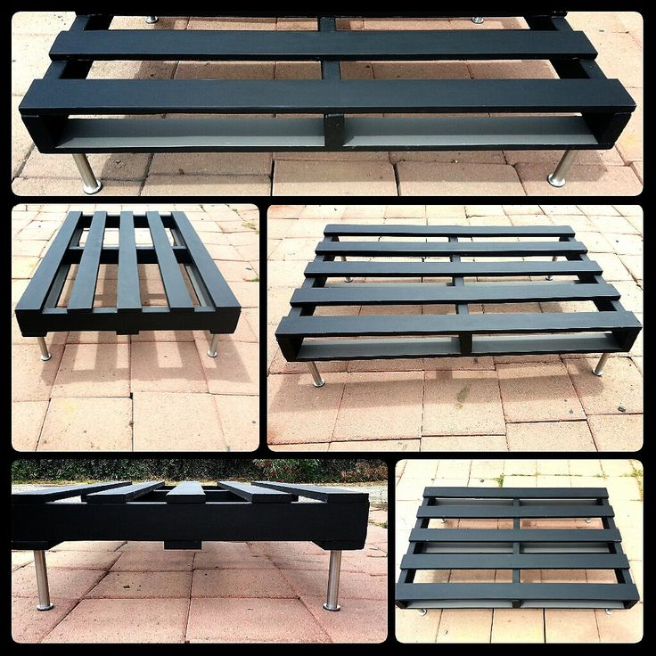 Black pallet coffee table desk home diy with pallets for Painted pallet coffee table