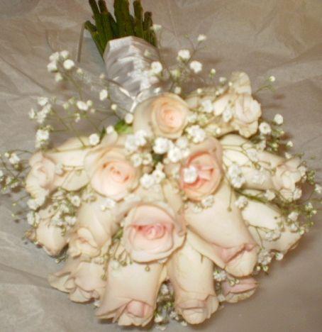 Ramo de Novia - Rosas con Gipsophilas