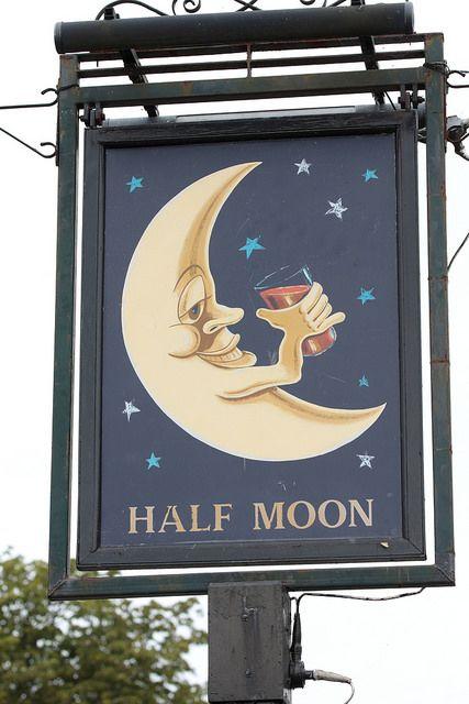 Half Moon pub sign Hildenborough Kent UK | by davidseall