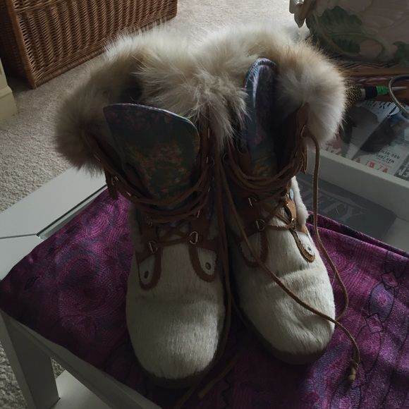 TecNica ski boots TecNica ski boots in pony with a hint of fringe, just enough fur to keep you warm and even a bit of floral to remind you that spring can't be far behind. I know it's a bit out of season but it pays to be prepared. Tecnica Shoes Winter & Rain Boots