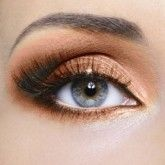 Blue eye makeup!