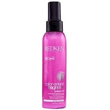 Redken Color Extend Magnetics Radiant 10 leave-in para cabelos coloridos. Garante 10 benefícios para o cabelo: força, proteção, hidratação, desembaraço, maciez, nutrição, vitalidade, maleabilidade, controle de frizz e brilho.