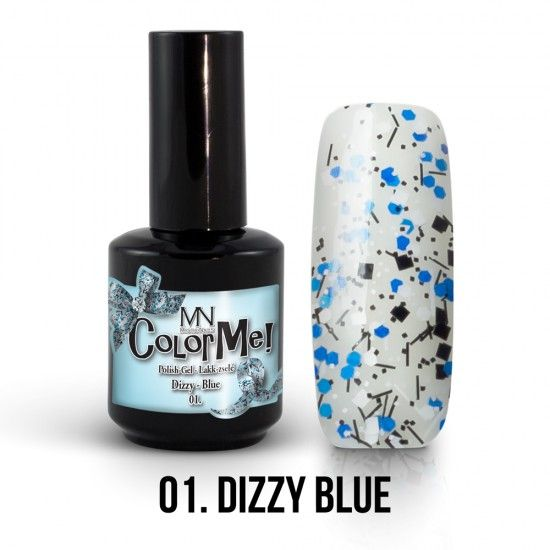 ColorMe! Dizzy no.01. - Dizzy Blue 12ml gel polish lakkzselé gél lakk nail art mystic nails